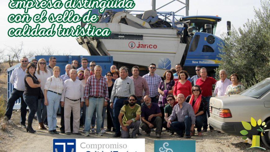 Óleo Jarico distinguido con el sello de Calidad Turística