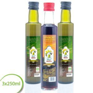 aceite virgen extra ecologico y vinagre oleo jarico